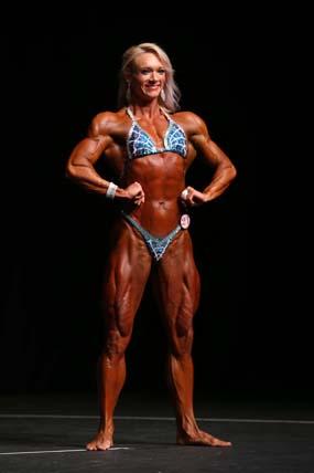 Jessica Martin bodybuilding competition pose 1