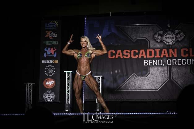 Jessica Martin bodybuilding competition pose 2