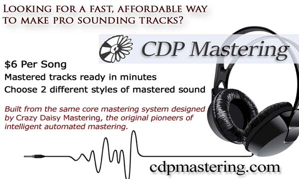 CDP Mastering automated intelligent online music mastering